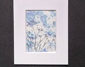 Original ACEO ATC 'Breeze' #1 landscape season Yorkshire artist