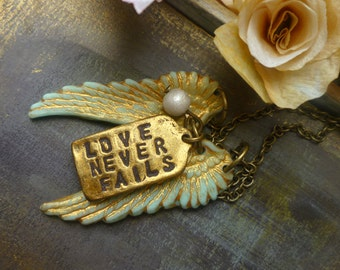 Love Never Fails - Inspirational jewelry BH
