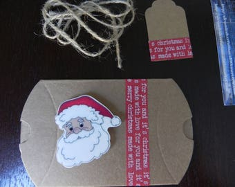 Christmas 2016 COLLECTION: Santa Claus magnet + gift wrap