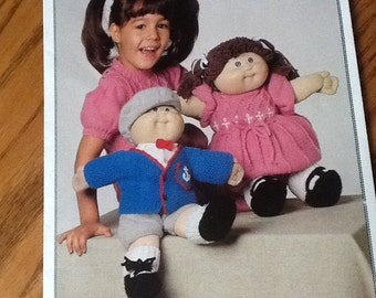 Patons - ALL DRESSED UP - Cabbage Patch knitting Leaflet