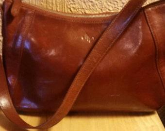 Vintage Monsac leather shoulder bag, handbag, purse.