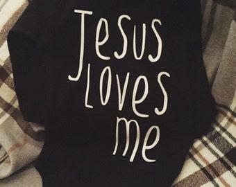 Jesus loves me longsleeve onesie