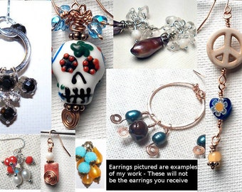 Earring Club - Monthly Earring Subscription Plan - Gifts for Her - Great Surprise Gift Idea - All Styles - All Colors  - Hand Made Earrings