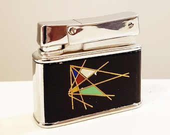 Rare FISHER Double-Case Pocket Cigarette Lighter, In Working Condition