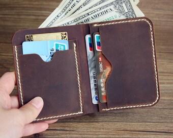 Men's Wallet, Leather Bifold Wallet, Men's Billfold Wallet, Minimalist Wallet, Groomsmen Gifts, Leather Wallets, Rocky Leather Design®