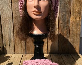 Slouchy Beret w/matching Boot Cuffs Handmade Crochet Soft & Comfy!