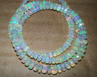 1 Strand AAA Ethiopian Opal Beads Faceted Rondelle Bead | Ethiopian Opal Beads | Faceted Opal Bead | AAA Welo Opal | Wholesale Opal Beads