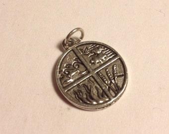 Four Elements Charm (pendant, pagan, necklace)