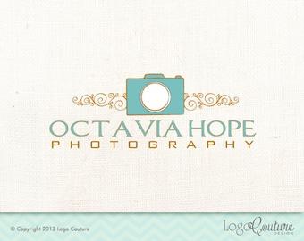 Premade Photography Logo - Your Name - Octavia Hope Photography - Camera - Logo for Photographer
