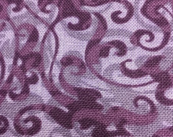 Pretty Purple Swirlie Fabric