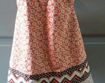 Girls Floral Pinafore Wrap Dress 2t