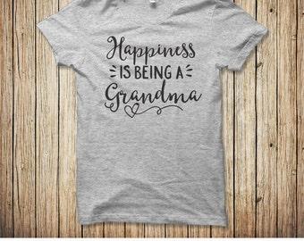 Grandma Gift, Grandma Shirt, Happiness is being a grandma grammy, New grandma shirt gift, Gift for grandma, Mothers Day Gift for Grandma