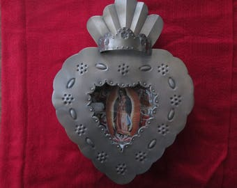 Tin nicho of Our Lady of Guadalupe