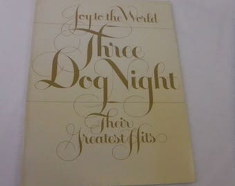Three Dog Night Joy to the World Their Greatest Hits Music Book Vintage