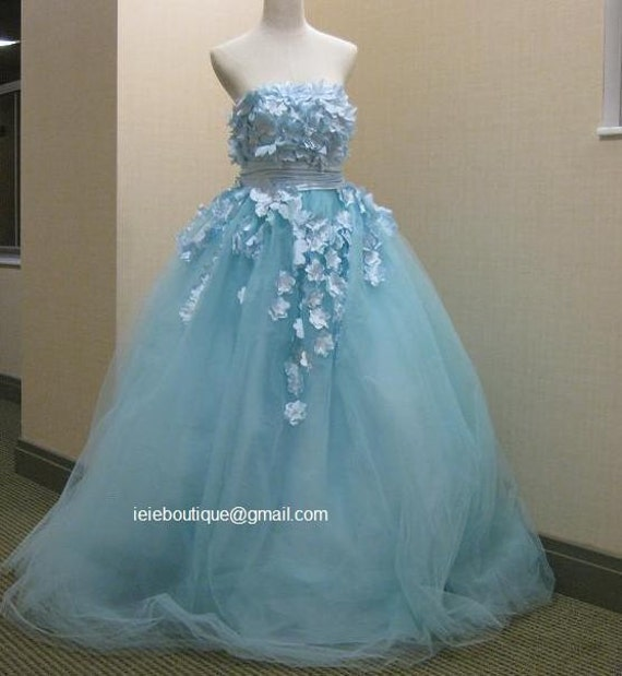 CM1031 Powder Blue Wedding Gown Reception Dress