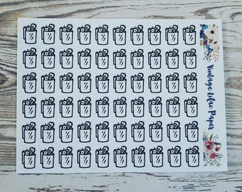 60 Doodle Grocery Planner Stickers: Perfect for any size planner!