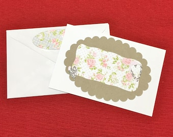 MINI VINTAGE CARD with Envelope
