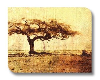 Paper napkin for decoupage, mixed media, collage, scrapbooking x 1. Desert Tree. No 1003