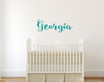 Nursery Name Sign, Wall Decals, Vinyl Decal, Nursery Wall Art, Nursery Wall Decal, Baby Name Sign, Girls Name Decal, Wall Name Decal, Custom