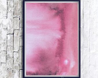 modern art, printable abstract art, watercolour painting, Pink Poster, modern watercolor print, Pink Decor, Original Art, modern home decor