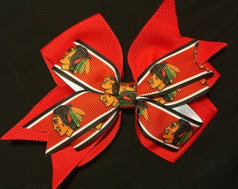Chicago Blackhawks Hair Bow