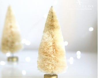 "5 3/4"" Natural Bottle Brush Sisal Trees Christmas Holiday DIY"
