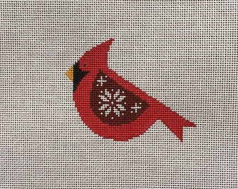 Hand Painted Scandinavian Winged Cardinal Canvas by MyPinkSugarLife
