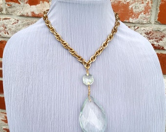 In Another Life- Vintage Crystal Chandelier Drop Necklace