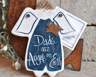 Father's Day Salt Dough Dad Ornament / Father Birthday Gift