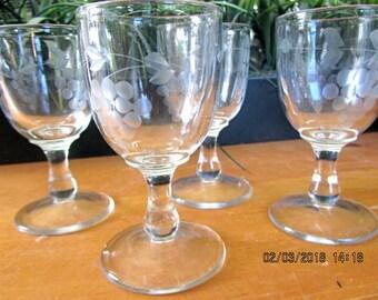 Stemware, vintage crystal, champagne glasses, cordials, shot, etc. Set of 4