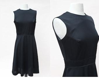 Vintage 70s Dress / Vintage Black Sleeveless Dress