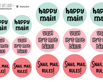 Envelope Stickers - Snail Mail Rules (planner stickers)