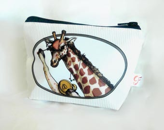 Giraffe Mascara Make Up Bag