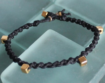 Bracelet Colo 05 Gold Cotton Handmade (B105GD-C)
