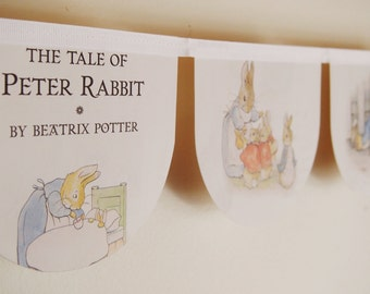 The Tale of Peter Rabbit book bunting