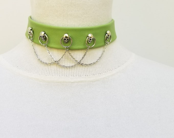 Lime Green skull and chain.