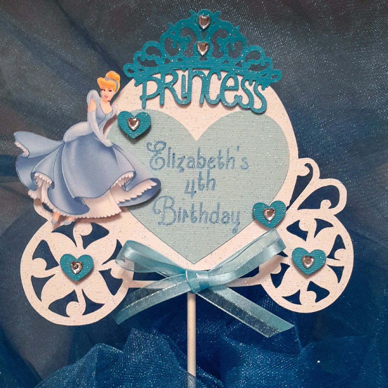 Cinderella Cake Topper Princess Cake Topper Cinderella Decoration