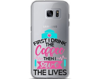 Coffee and nurse medical Samsung cell phone Case
