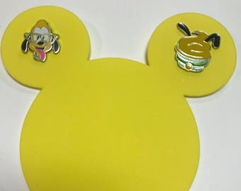 Mickey Icon Pin Holder w/ 2 FREE Pluto Nerd and Cupcake Pins
