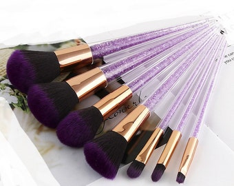 Purple crystals brush set