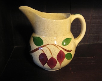 Watt Pottery USA Pitcher #15,Watt Pottery Pitcher, Teardrop Watt Pottery Cream Pitcher, Teardrop Cream Pitcher, Watt Teardrop Pitcher