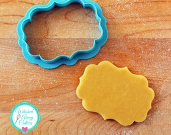 The Maryann Plaque Cookie Cutter and Plaque Cutter