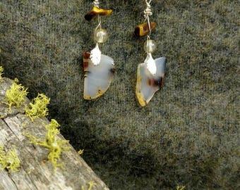 Agate & Tiger's Eye Earrings