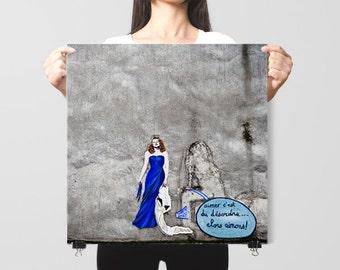 """Paris Graffiti, Paris photography, Paris art Print, travel photography - """"Love is Chaotic"""""""