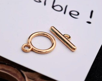 10 sets gold toggle clasp Z03