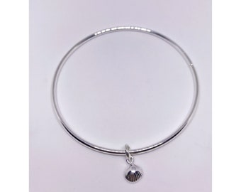 Sterling silver 925 clam shell bangle