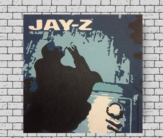 Jay z the blueprint classic hip hop rap album cover acrylic description this is my interpretation and version of jay zs album cover the blueprint malvernweather Gallery