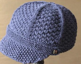 PDF Newsboy Hat - Knitting Pattern