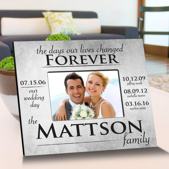 The Day Our Lives Changed Picture Frame - Personalized Picture ...