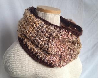 Crochet PATTERN - crochet cowl pdf, beginner crochet scarf pattern, easy crochet cowl pattern, beginning crochet pattern